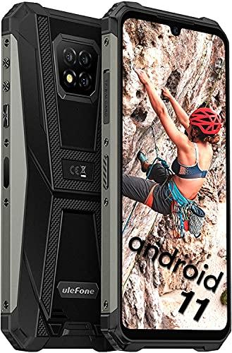 Ulefone Armor 8 Pro Rugged Smartphone, 128GB + 6GB Helio P60 Octa-Core Rugged Cellulare Android 11 e 16MP + 8MP Camere IP68 Antiurto Smartphone 5580mAh 6.1 Pollici Schermo Telefono Resistente-Nero