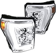 For Ford F250 F350 F450 SuperDuty LED Bar Clear Projector Headlights Left+Right