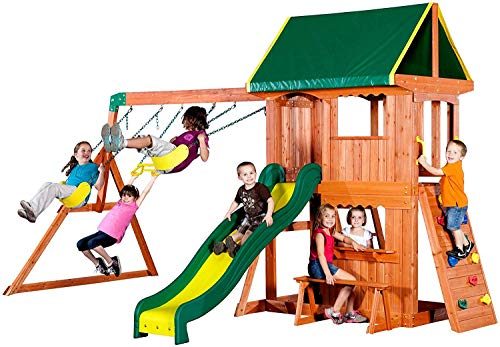 Backyard Discovery Somerset All Cedar Wood Playset Swing Set - 65012 model