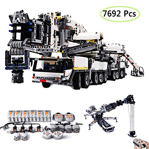 HYZM Technic Grua Liebherr LTM 11200, 7692 Piezas Set de Construcción Grúa con 8 Motor y Control Remoto, Compatible con Lego Technic