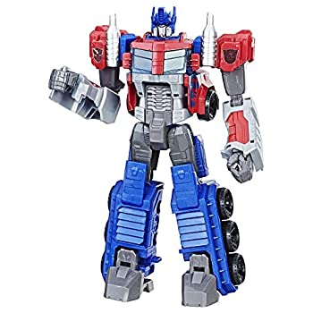 Transformers Toys Heroic Optimus Prime Action Figure - Timeless Large-Scale Figure Changes into Toy Truck - Toys for Kids 6 and Up 11-inch Amazon Exclusive