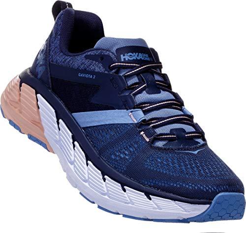 HOKA ONE ONE Women's Gaviota 2 Running Shoe (8 M US, Mood Indigo/Dusty Pink)