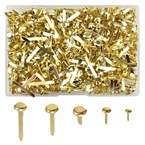 500 piezas Mini clavos Clips de cabeza redonda de metal Broches de patrón Sujetadores de papel para hacer tarjetas Scrapbooking Manualidades hechas a mano DIY