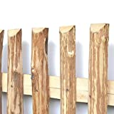 Zaunlatten aus Haselnuss • Zaunbretter 7-9cm x 80cm zum Selbstbauen von Holzzaun, Lattenzaun, Staketenzaun bzw. Kastanienzaun