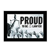 Huppme Wooden Proud to Be A Lawyer Second A3 Photo Frame