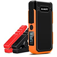 Suaoki U10 - Jump Starter de 20000mAh, 800A Batería Arrancador de Coche (Batería Externa Recargable, LED Flashlight, Multifunción, Con pinzas inteligentes) (Naranja)