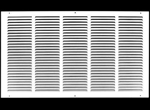 24'w X 14'h Steel Return Air Grilles - Sidewall and Ceiling - HVAC Duct Cover - White [Outer Dimensions: 25.75'w X 15.75'h]
