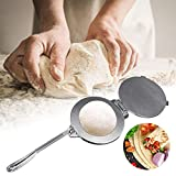 YlRNhe Tortilla Press 8 Inch Cast Iron Aluminium Mexican Style Quesadilla Tortilla Makers Tool for Commercial Restaurant and Home Kitchen