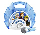 eKids Frozen 2 Sing Along Boombox with Microphone, Built in Music, Flashing Lights