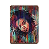 Lauryn Hill Retro-Poster, Metall-Blechschild, schickes