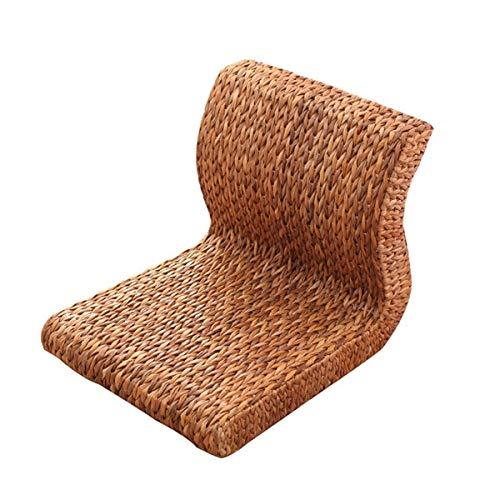 SPFOZ Haus Dekoration Handgemachte japanische Boden beinlose Stuhl sitzungszimmer möbel asiatisch traditionell Tatami zaisu rückenstuhl for Balkon bucht (Color : Made from Banana lea)