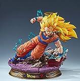 Gk Estatua Dragon Ball Super Saiyan Son Goku Kakarotto Escenas De Lucha Resina Anime Figura De Acción Modelo Colección Manga Juguete Regalo 46Cm