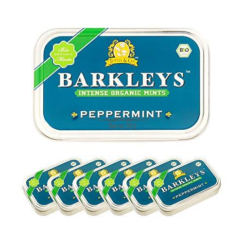 Barkleys (バークレイズ) オーガニックミントタブレット(ペパーミント味)50g×6個セット