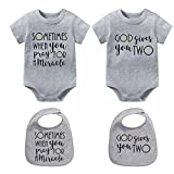 culbutomind M Wish Baby-Strampler, lustig, für Zwillinge Gr. 4-6 Monate, grau