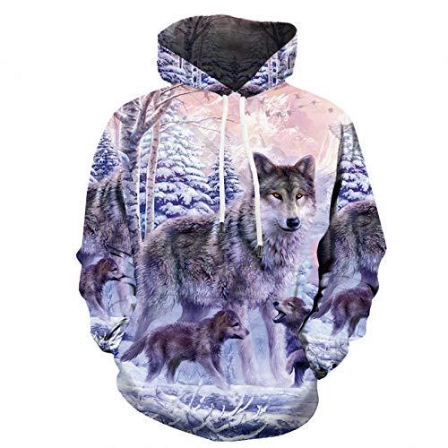 Casual Print Sweater Hoodie Loose Kapuzenpullover 3D Digital Herren Herren