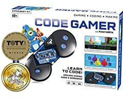 Learn to code by playing a video game Gaming: use the sensors to control the game with this innovative gamepad Coding: solve puzzles and challenges in the game and learn Arduino Making: write your own programs and develop new application for the sens...