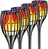 """Woenergy Solar Torch Lights Outdoor, Waterproof Flickering Flames Torches Lights 43"""" Outdoor Solar Spotlights Landscape Decoration Lighting Dusk to Dawn Auto On/Off for Yard Patio Driveway (4 Pack)"""