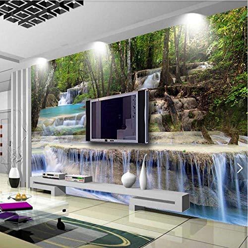 BZDHWWH Papel Tapiz fotográfico 3D 5D 8D, Mural de Cascada Natural para Sala de Estar, Pared del hogar, Pintura Decorativa, Lienzo, Tela de Seda, murales de Paisaje