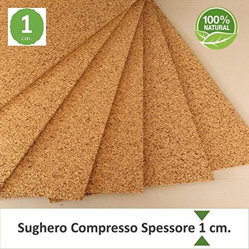 FUTURAZeta - Pannello Sughero naturale compresso spessore 1 cm. a grana fine mis. 100 x 50 (pacco 20 pz) - isolamento termico spessore sottile.