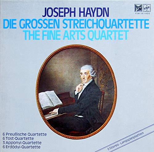 Haydn: Die grossen Streichquartette (6 Preußische, 6 Tost-, 3 Apponyi- & 6 Erdödyi-Quartette) [Vinyl Schallplatte] [9 LP Box-Set]