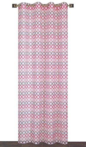 Atout Ciel Rideau, Polyester, Fuchsia, 140x240x5 cm