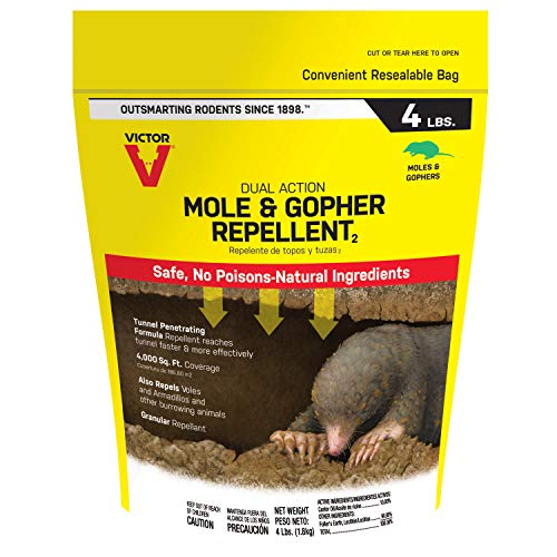 Victor M7001-1 Mole & Gopher Repellent, Black