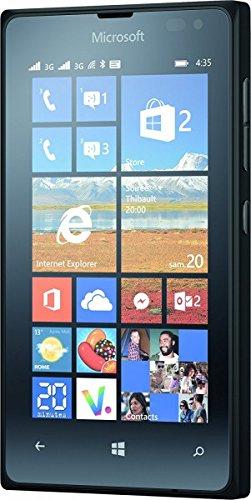 Smartphone Microsoft Lumia 435,Dual SIM, 8GB, nero (schermo da 4 pollici, 800x 480Pixel, LCD, 1,2GHz, Qualcomm Snapdragon, 1024MB di RAM)