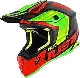 Just 1 Helmets Just1 J38 - Casco para moto (talla XL), color azul y blanco L Red-Lime-Black