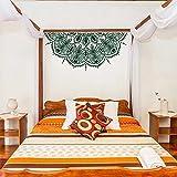 Flor de la pared mandala media pared mandala lindo coche pegatina mandala molde de escritorio