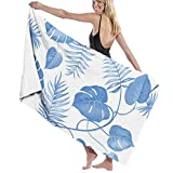 Yaxinduobao Topical Palm Leaves Vector Soft Toalla de baño Highly Absorbent Multipurpose Towels Oversized Toalla de Playa for Travel Bathroom Hotel Gym SPA 31'x 51'