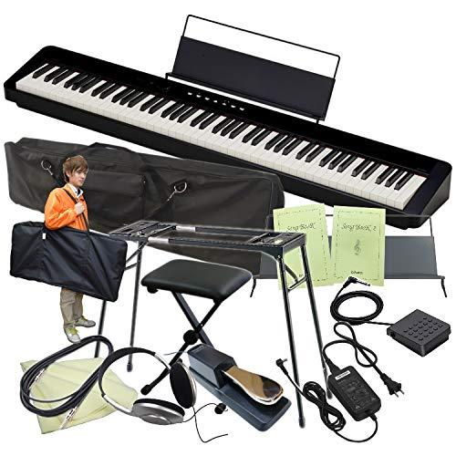 カシオ 電子ピアノ PX-S1000 テーブル形スタンド+椅子+ケース2種付き (ブラック)