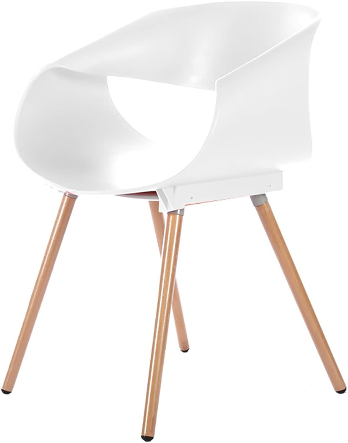 HTZ Lazy Sofa, Chair Egg Roll Chair, Solid Wood Plastic Coffee Chair Dining Chair + (color   White)