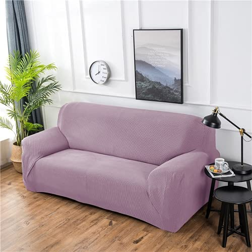 FENFANGAN Fundas para Sofas Impermeables, para Sala De Estar, Fundas Sofa Elasticas, Tela Funda Sofa Ajustables, Cubre Sofa para Decoración del Hogar (Light Purple,3-Seater 180-225cm)