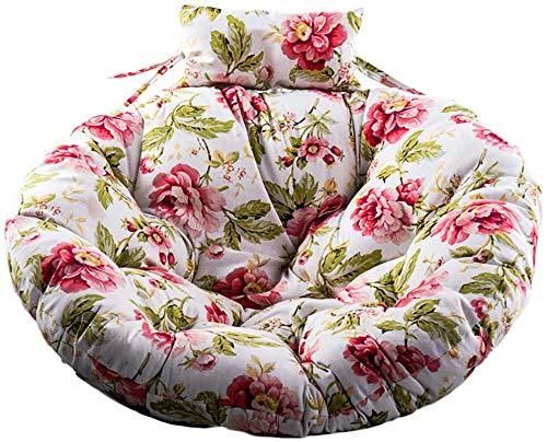 WGG schommelstoel kussen, ronde tuin buiten opknoping ei hangstoel pads verwijderbare comfortabele wasbare wieg kussen thuis D105cm(41inch) B