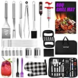 VIVITEST 34PCS BBQ Grill Accessories,Heavy Duty Stainless Steel BBQ Tools Set,Professional Grill Set with Carry Bag