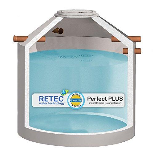 Zisterne 8000 Liter RETEC Betonzisterne Solo, inkl. Lieferung und 4 Anschlüsse - TOPPREIS - Beton, Betonzisterne