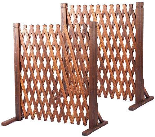 uyoyous 2 unidades de barrera para perros, rejas de tijera, rejilla de protección para animales, valla de jardín extensible, rejilla para plantas de 160 cm, plegable