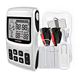 ROOVJOY Tens Unit EMS Muscle Stimulator Massager for Pain Relief Electrodes Therapy Tens Machine