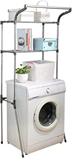 Hershii – Étagère de rangement pour salle de bain à 2 niveaux avec entretoises transparentes