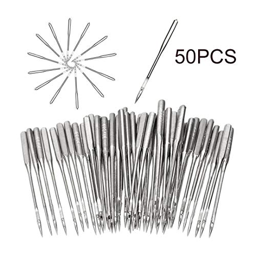 Purchase NOLOGO JSBHS 50 Pieces/Set Silver Sewing Machine Needles Assorted Home Sewing Machine Needl...