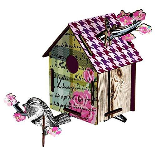 casetta bird hpuse - ROMANTIC RESORT - H/L/W: 33 X 22 X 30 cm - da una tavoletta di legno ad un accessorio inatteso per la casa