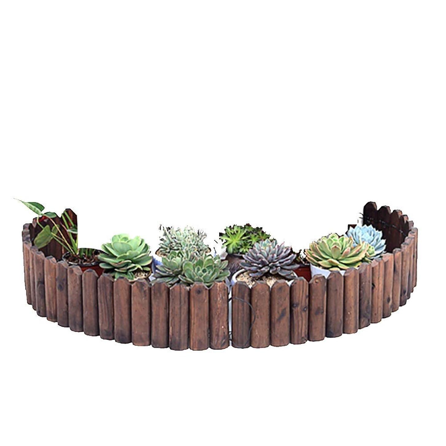 YYFANG 木製フェンス高温炭化耐候性含浸庭の芝生保護分割スペース自然モミ、5サイズ (Color : Brown, Size : 118x30cm)