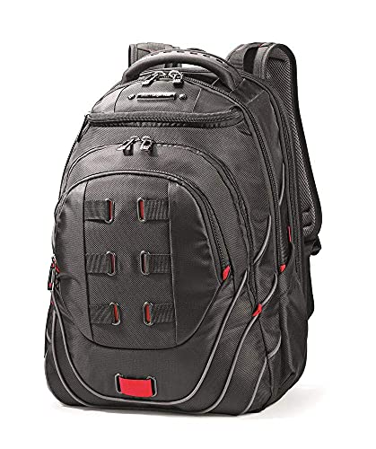 Tectonic PFT Laptop Backpack, Black/Red, 17-Inch - Premium