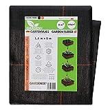 GARDENIX® 8 m² Tela para Control de maleza, Permeabilidad al Agua, 100g/m² de jardín vellón de protección contra malezas Alta estabilización UV (1,6m x 5m)