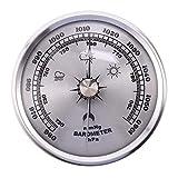 ZGQA-GQA Para el hogar Gauge de presión Tiempo en la estación de metal Colgante de pared Barómetro Atmosférica Termómetro multifunción Higrómetro Portátil
