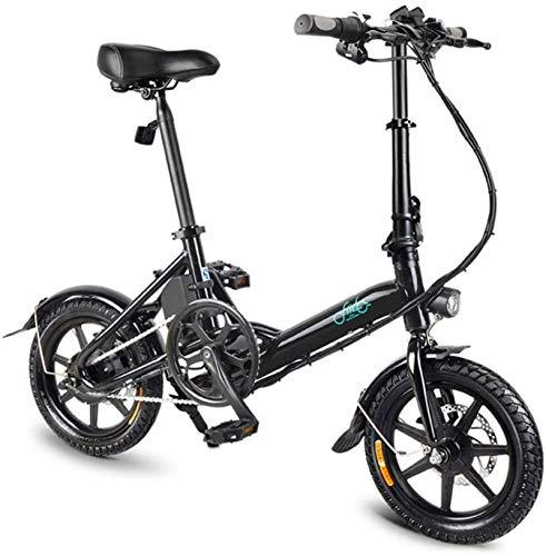 Fangfang Bicicletas Eléctricas, Bicicletas eléctricas rápidas for Adultos de 14 Pulgadas Bicicleta Plegable eléctrica con 250W 36V / 7.8AH de Iones de Litio - 3 Gear Electric Power Assist,Bicicleta
