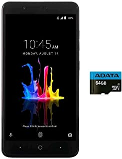 "ZTE BLADE Z MAX Z982 (32GB, 2GB RAM) 6.0"" Full HD Display, Dual Rear Camera, 4080 mAh Battery, 4G LTE GSM Unlocked Smartphone w/ US Warranty (Black)"