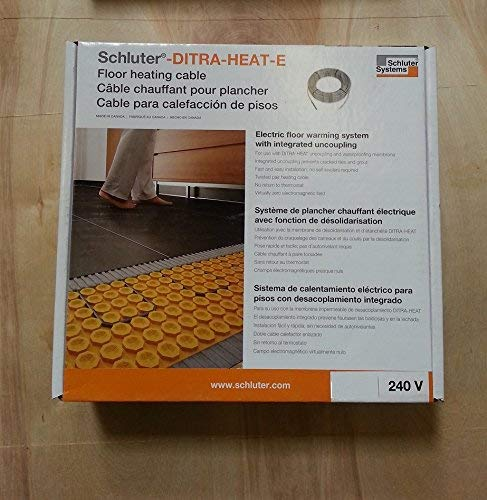 183.3 Ft² Schluter Systems DITRA-HEAT-E Floor Heating Cable All Sizes 120V/&240V