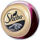 Sheba Feine Filets, Getreidefreies Nassfutter für Katzen als besonderer Snack, Köstliche Filets in eigenem Saft, 24 x 80 g