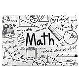 KIMDFACE Rompecabezas Puzzle 1000 Piezas,Matemáticas escritas Texto e Iconos Ecuaciones geométricas,Puzzle Educa Inteligencia Jigsaw Puzzles para Niños Adultos